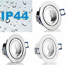 IP44 Alu- Feuchtraum Badezimmer Einbaustrahler