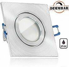IP44 LED Einbaustrahler Set Aluminium natur mit