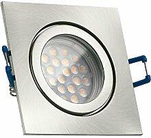 IP44 LED Einbaustrahler Set Silber gebürstet mit