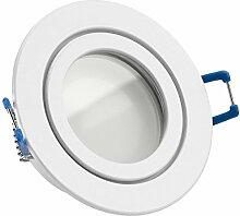 IP44 LED Einbaustrahler Set Wei§ mit LED GU5.3