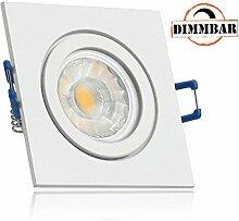 IP44 LED Einbaustrahler Set Weiß mit COB LED GU10