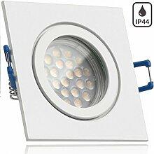 IP44 LED Einbaustrahler Set Weiß mit LED GU10