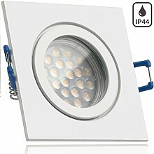 IP44 LED Einbaustrahler Set Weiß mit LED GU5.3 /