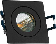 IP44 LED Mini Einbaustrahler Set in Anthrazit Grau