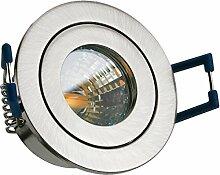 IP44 LED Mini Einbaustrahler Set in Silber