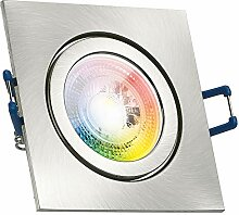 IP44 RGB LED Einbaustrahler Set GU10 in