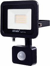 IP44 Schwarz LED Flutlicht mit Bewegungsmelder 20W