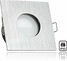 IP65 LED Einbaustrahler Set Aluminium gebürstet