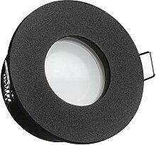 IP65 LED Einbaustrahler Set Schwarz Tauschbares
