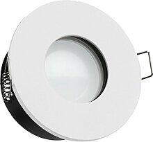 IP65 LED Einbaustrahler Set Weiß mit LED GU10