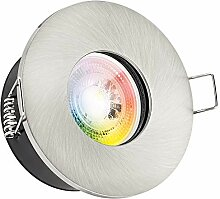 IP65 RGB LED Einbaustrahler Set GU10 in