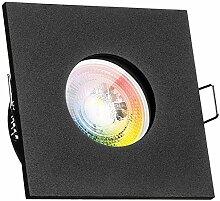 IP65 RGB LED Einbaustrahler Set GU10 in schwarz