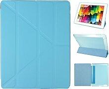 iPad 2 Hülle Smart Cover, Asnlove Hülle Schutzhülle Etui Tasche Abdeckung Ledertasche mit Ständer Funktion und Eingebautem Magnet für Apple iPad 2 / 3 / 4 Tablet Cover,Blau