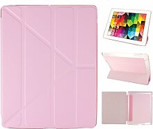 iPad 2 Hülle Smart Cover, Asnlove Hülle Schutzhülle Etui Tasche Abdeckung Ledertasche mit Ständer Funktion und Eingebautem Magnet für Apple iPad 2 / 3 / 4 Tablet Cover, Rose Red