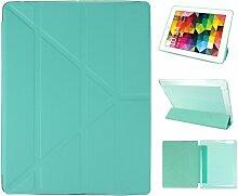 iPad 2 Hülle Smart Cover, Asnlove Hülle Schutzhülle Etui Tasche Abdeckung Ledertasche mit Ständer Funktion und Eingebautem Magnet für Apple iPad 2 / 3 / 4 Tablet Cover, MintGrün