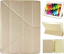 iPad 2 Hülle Smart Cover, Asnlove Hülle Schutzhülle Etui Tasche Abdeckung Ledertasche mit Ständer Funktion und Eingebautem Magnet für Apple iPad 2 / 3 / 4 Tablet Cover, Golden