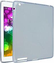 iPad 2 Silkon Hülle, Asnlove TPU Schutzhülle Tasche Case Cover Kratzfest Weich Flexibel Silikon Bumper in Matt Crystal Transparent Tablet Schutzhülle für Apple iPad 2 / 3 / 4, Blau