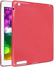 iPad 2 Silkon Hülle, Asnlove TPU Schutzhülle Tasche Case Cover Kratzfest Weich Flexibel Silikon Bumper in Matt Crystal Transparent Tablet Schutzhülle für Apple iPad 2 / 3 / 4, Ro