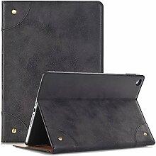 iPad 4 Schutzhülle 9.7 Inch, TechCode Bookstyle Ständer Magnet PU Leder mit Smart Auto Schlaf / Wach up Funktion Hülle Case Cover für 9.7 Zoll iPad 2/3/4 (iPad 2/3/4, Schwarz)