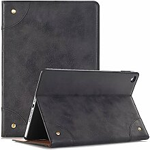 iPad Air 1 9.7 Zoll Schutzhülle, TechCode Bookstyle Ständer Magnet PU Leder mit Smart Auto Schlaf / Wach up Funktion Hülle Case Cover für 9.7 Zoll iPad Air A1474 A1475 A1476 (iPad air, Schwarz)