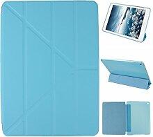 iPad Air 2 Hülle Smart Cover, Asnlove Hülle Schutzhülle Etui Tasche Abdeckung Ledertasche mit Ständer Funktion und Eingebautem Magnet für Apple iPad Air 2 / iPad 6 Tablet Cover,Blau