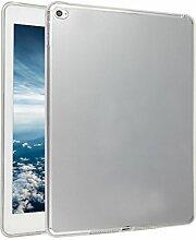 iPad Air 2 Silkon Hülle, Asnlove TPU Schutzhülle Tasche Case Cover Kratzfest Weich Flexibel Silikon Bumper in Matt Crystal Transparent Tablet Schutzhülle für Apple iPad Air 2 / iPad 6, Weiß