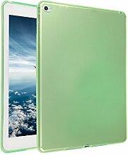 iPad Air 2 Silkon Hülle, Asnlove TPU Schutzhülle Tasche Case Cover Kratzfest Weich Flexibel Silikon Bumper in Matt Crystal Transparent Tablet Schutzhülle für Apple iPad Air 2 / iPad 6, Grün