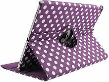iPad air 9,7 Zoll Tasche, TechCode 360 Grad Rotation Ständer PU Leder Tasche Schutzhülle Folio Weiche Gummi Hülle Case Schutzhülle Tasche für Apple 9,7 Zoll iPad air (iPad air, Lila)