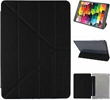 iPad Air Hülle Smart Cover, Asnlove Hülle Schutzhülle Etui Tasche Abdeckung Ledertasche mit Ständer Funktion und Eingebautem Magnet für Apple iPad Air / iPad 5 Tablet Cover, Schwarz