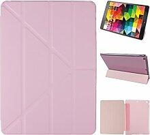 iPad Air Hülle Smart Cover, Asnlove Hülle Schutzhülle Etui Tasche Abdeckung Ledertasche mit Ständer Funktion und Eingebautem Magnet für Apple iPad Air / iPad 5 Tablet Cover, Rose Red