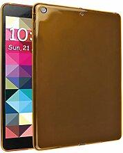 iPad Air Silkon Hülle, Asnlove TPU Schutzhülle Tasche Case Cover Kratzfest Weich Flexibel Silikon Bumper in Matt Crystal Transparent Tablet Schutzhülle für Apple iPad Air / iPad 5, Orange