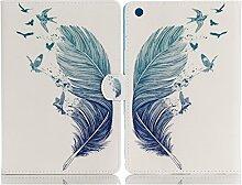 iPad air Smart Case , elecfan® 9.7'' Luxus Bookstyle Folio Hülle Tasche Ständer Magnet Auto Aufwachen Schlaf Funktion und Einstellbarem Blickwinkel Funktion Schutzhülle für iPad Air (iPad Air, Feder Weiß)