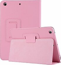 iPad mini 4 Handyhülle, elecfan® Ultra Slim Schlau PU Leder Tasche Hülle Etui Schutzhülle Ständer Smart Cover für Apple iPad Mini 4 7.9 Zoll IOS 2015 Genaration Tablet Modellnumber A1538 A1550 - Rosa