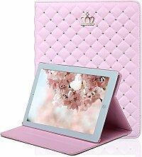 iPad Mini 4 Hülle, elecfan® Süße Mädchen Folio Slim Fit Kunstleder Schutzhülle Case Smart cover mit Standfunktion Auto Schlaf Aufwachen Funktion PU Tasche Ledertasche Leichtgewicht Anti Kratzer Schutzhülle für iPad Mini 4 (iPad Mini 4, Rosa)