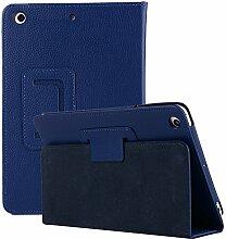 iPad Mini 4 Hülle, elecfan® Ultra Slim Schlau PU Leder Tasche Hülle Etui Schutzhülle Ständer Smart Cover für Apple iPad Mini 4 7.9 Zoll IOS 2015 Genaration Tablet - Dunkelblau