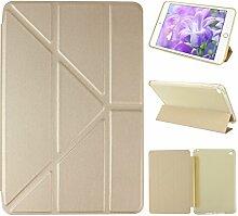 iPad Mini 4 Hülle Smart Cover, Asnlove Hülle Schutzhülle Etui Tasche Abdeckung Ledertasche mit Ständer Funktion und Eingebautem Magnet für Apple iPad mini 4 Tablet Cover, Golden