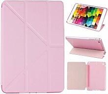 iPad Mini Hülle Smart Cover, Asnlove Hülle Schutzhülle Etui Tasche Abdeckung Ledertasche mit Ständer Funktion und Eingebautem Magnet für Apple iPad mini, iPad mini 2 und iPad mini 3 Cover, Rose Red