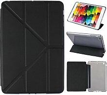 iPad Mini Hülle Smart Cover, Asnlove Hülle Schutzhülle Etui Tasche Abdeckung Ledertasche mit Ständer Funktion und Eingebautem Magnet für Apple iPad mini, iPad mini 2 und iPad mini 3 Cover, Schwarz