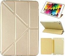 iPad Mini Hülle Smart Cover, Asnlove Hülle Schutzhülle Etui Tasche Abdeckung Ledertasche mit Ständer Funktion und Eingebautem Magnet für Apple iPad mini, iPad mini 2 und iPad mini 3 Cover, Golden