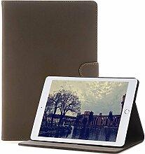 iPad Pro 9.7 Case , elecfan® Vintage Retro Business-Stil Folio Slim Fit Kunstleder Schutzhülle Case Smart cover mit Standfunktion Auto Schlaf Aufwachen Funktion PU Tasche Ledertasche Leichtgewicht Anti Kratzer Schutzhülle für iPad Pro 9.7 (iPad Pro 9.7, Grau)
