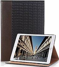 iPad Pro 9.7 Schutzhülle, elecfan® Ultra Dünn Leichtgewicht Book Style Flip PU Leder Hülle Tasche Wasserdicht Case Smart Cover mit Ständer / Auto Schlaf Wach Funktion Anti Kratzer Schutzhülle für iPad Pro 9.7 (iPad Pro 9.7, Braun)