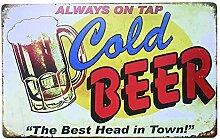 ipekoo Bier Welt Retro Vintage Decor Blechschild