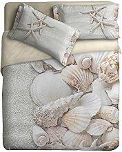 Ipersan Bettbezug  Set mit Platziertem fotografisch Druck Marine  farbe Beige  255x240