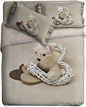 Ipersan Bettbezug  Set mit Platziertem fotografisch Druck  Mon Coeur farbe grau/weiß 155x240