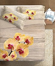 Ipersan Bettwäsche Orchid gelb/grau Bett 135/140(205x 200cm + 40rim + 52x 83cm)