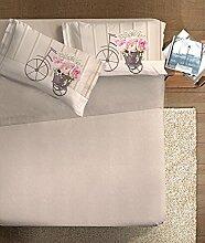 Ipersan Bettwäsche Vintage Beige/Pink Bett