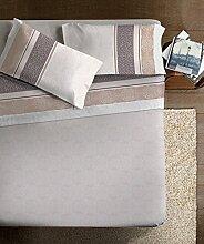 """Ipersan Bettwäscheset für 150cm Breites Bett (250x300cm), Design """"Damasco"""", Haselnussbraun"""