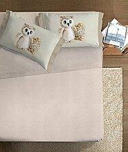 Ipersan Eule-Art, 100% Baumwolle, Beige, für französisches Bett, 180x 300x 1cm