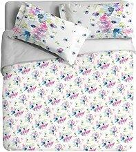 Ipersan Position Frühling Foto Bettbezug mit Fotodruck, 100% Baumwolle, hellblau, Doppelbett, 255x 240x 0.5cm, 3Einheiten