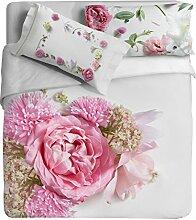 Ipersan Position Rosabella Bettwäsche Reflektor mit Fotodruck, 100% Baumwolle, Pink, Doppelbett, 255x 240x 0.5cm, 3Einheiten